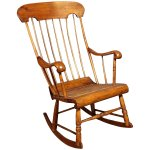 19th C Antique American Spindle Back Caned Seat Rocking Chair Armchair Treasure Island Interiors Llc Ruby Lane