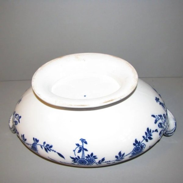 Lovely Large Flow Blue Minton Delft Soup Tureen Withlid
