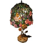 Stunning Stain Glass Lamp Shade And Table Lamp Feat Flowers Roses Bearski Gallery Llc Ruby Lane
