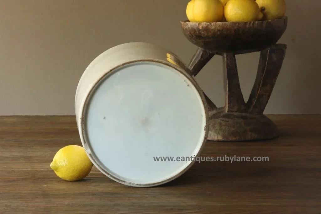 Antique English Ironstone Jam Preserve Jar Crock