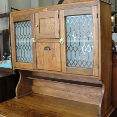 Used Kitchen Cabinets Indiana Top Appliances Antique Boone Oak 2 Piece Cabinet Bread And Butter