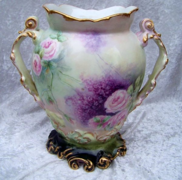 """Gorgeous .l. France Limoges 1908 Hand Painted """"red"""