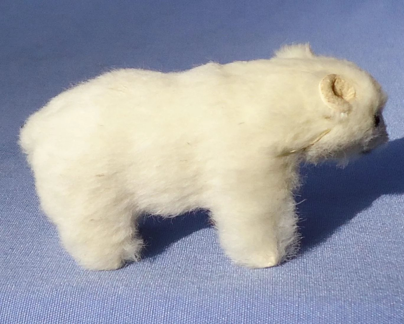 Polar Bear Fur Toy Germany French Fashion Doll Label Morning Line Antiques
