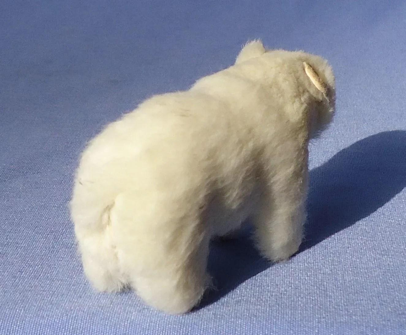 Old Polar Bear Fur Toy French Fashion Doll Companion