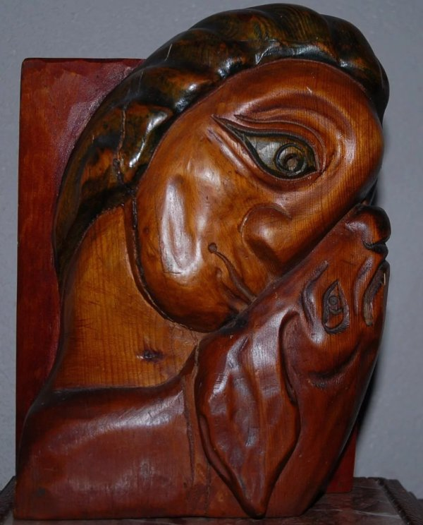 Carved Wood Sculpture Picasso