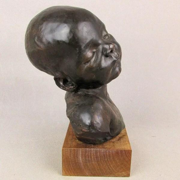 Dalou Sculpture Bronze Cast Sleeping Baby Alva Museum