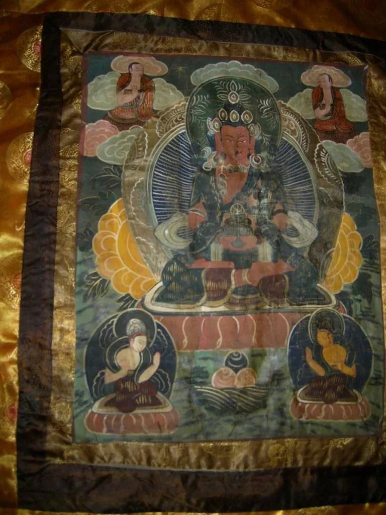 Old Tibetan Buddhist Thangka Buddha Art Antiques Jewelry