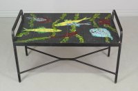 French Mid Century Tile Top Table : Olivier Fleury, Inc ...