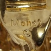 Monet large simulated pearl drop clip earrings : Green ...