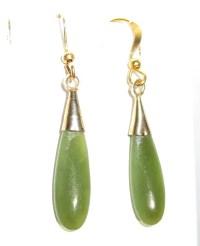 Vintage Green Jade Teardrop Earrings : Patti's Jewelry ...
