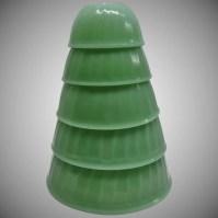 RARE Vintage Fire King Jadite Swirl 5-Piece Mixing Bowl ...