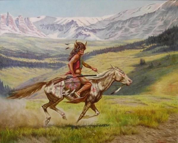 Native American Indian Original Oil Painting Gregory Perillo Seaside Art Ruby Lane
