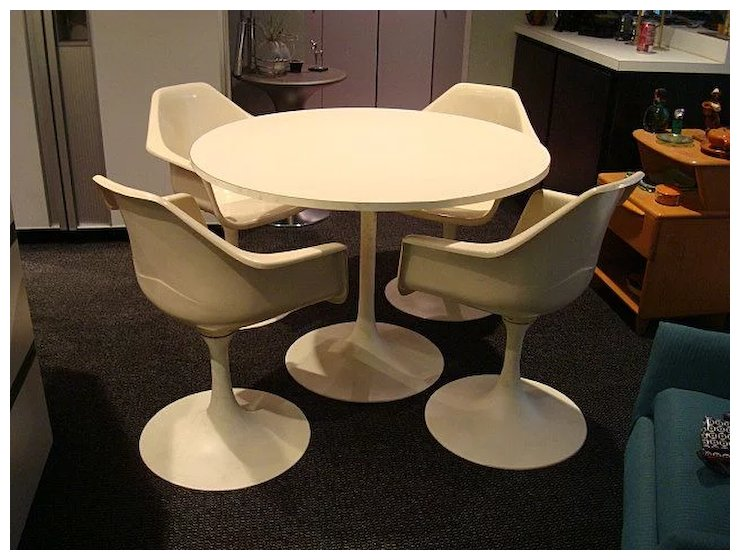 tulip table and chairs reupholster chair cushion corners vintage mid century modern the era of my