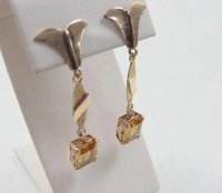 Vintage 20k Gold Long Citrine Earrings : Arnold Jewelers ...