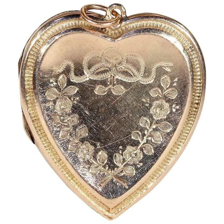 antique heart locket in