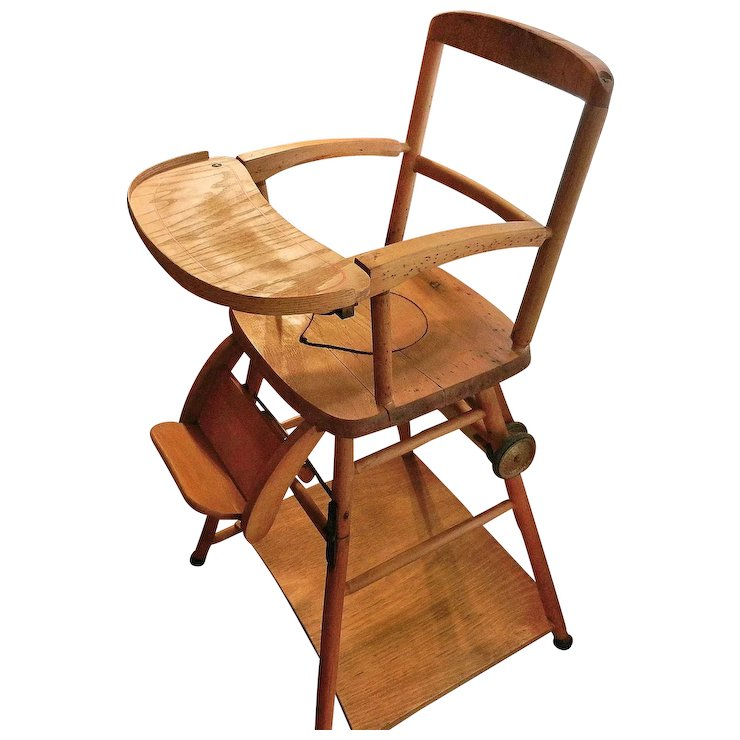 wooden potty chair womens office chairs vintage high and play in one my grandmother had ruby lane