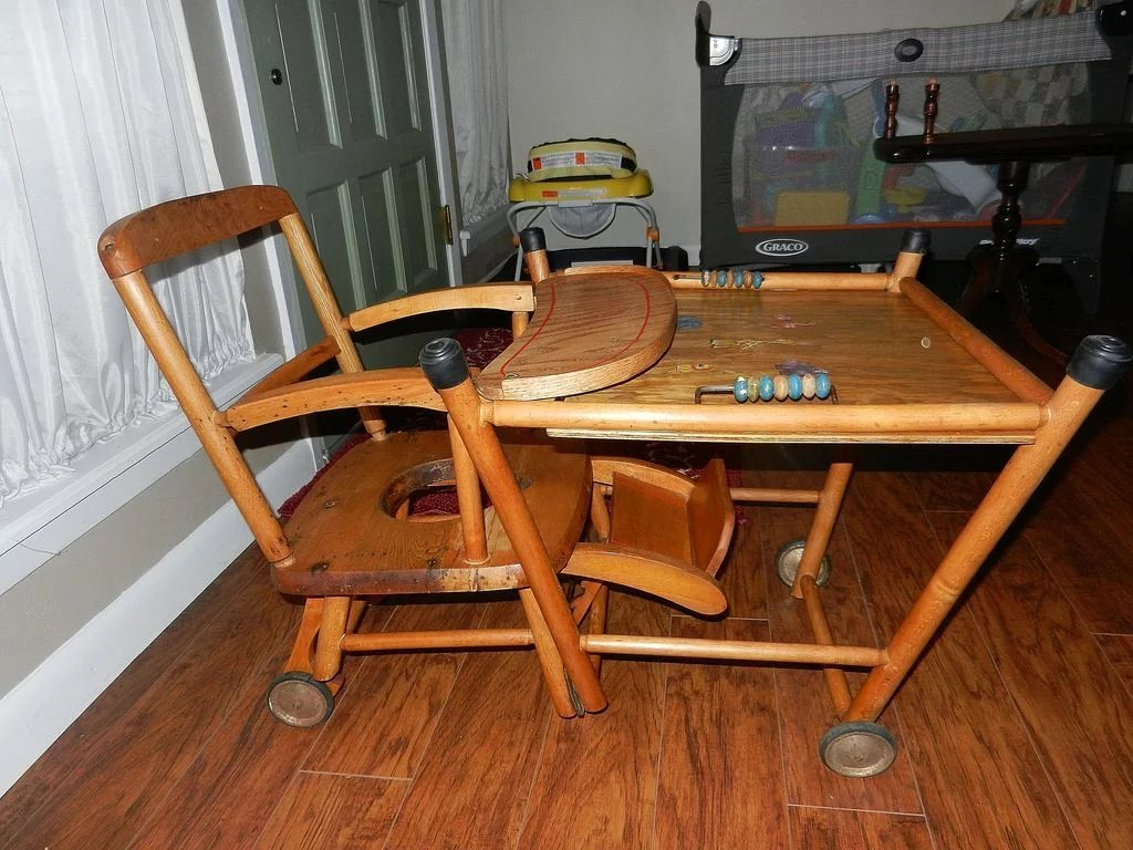 wooden potty chair office depot desk chairs vintage high chair, and play in one : my grandmother had | ruby lane
