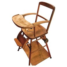 vintage wood high chair toddler potty chairs wooden ruby lane and play in one