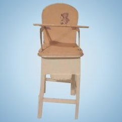 High Chairs For Small Babies Narnia The Silver Chair Doll Dolls Ruby Lane Melon And Cream Tin Baby With Bear Design