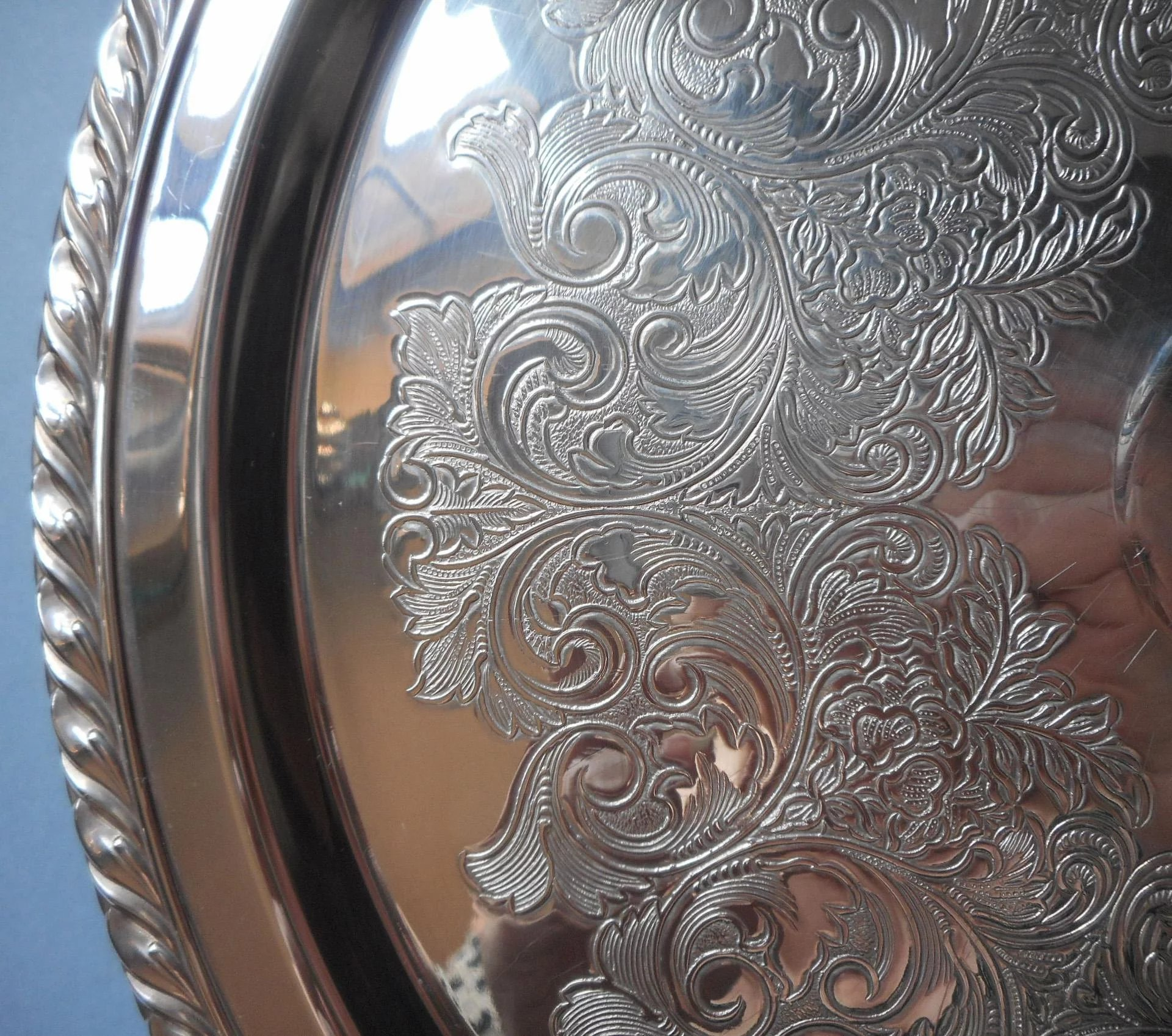 Vintage Cake Pedestal Stand Silver Plated Wm A Rogers