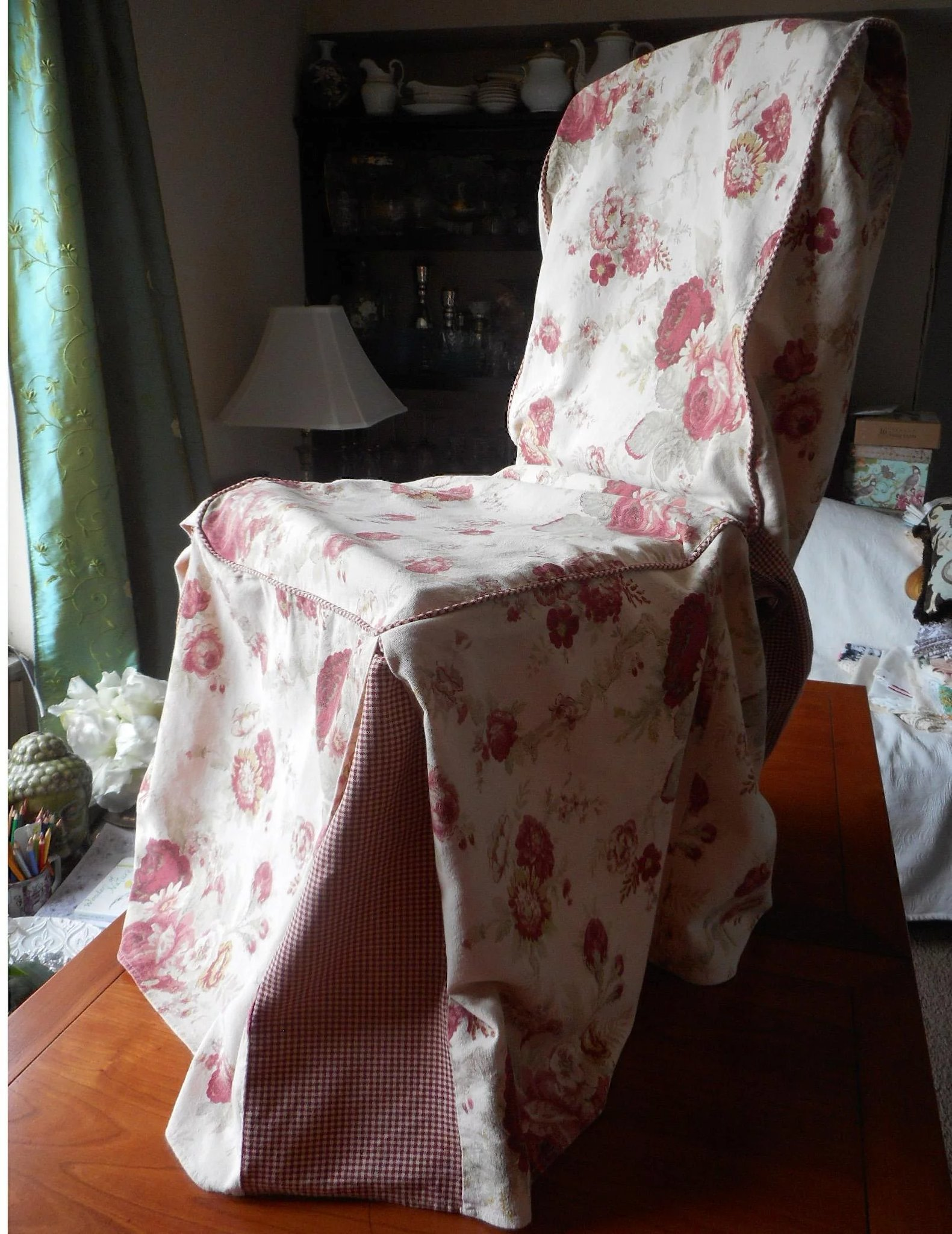 chair covers and more norfolk building a rocking plans rose vintage waverly cover slipcover garden
