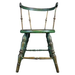 Antique Windsor Chair Slipcovers For Queen Anne Chairs Child S Cricket Green Paint Finish Line Collectibles Ruby Lane