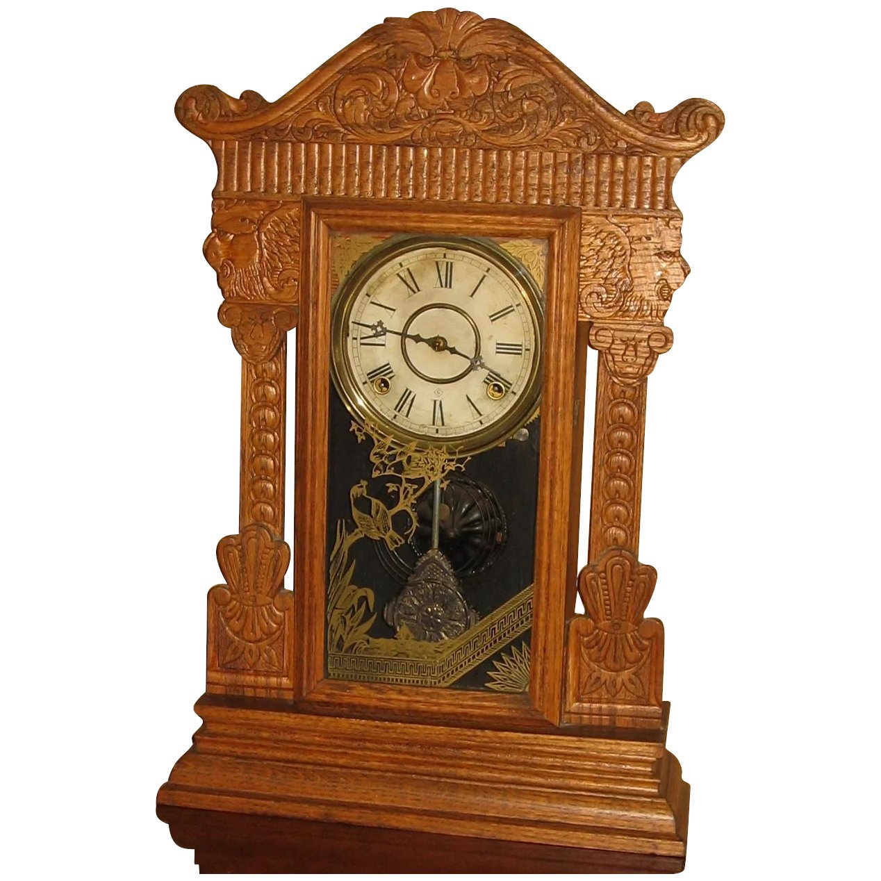 gilbert kitchen clock countertops grand rapids mi wm pressed oak cathys clocks ruby lane click to expand