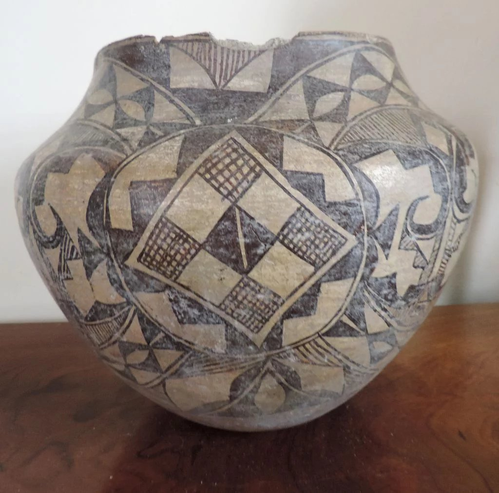 Large Antique Native American Indian 19th Century Acoma