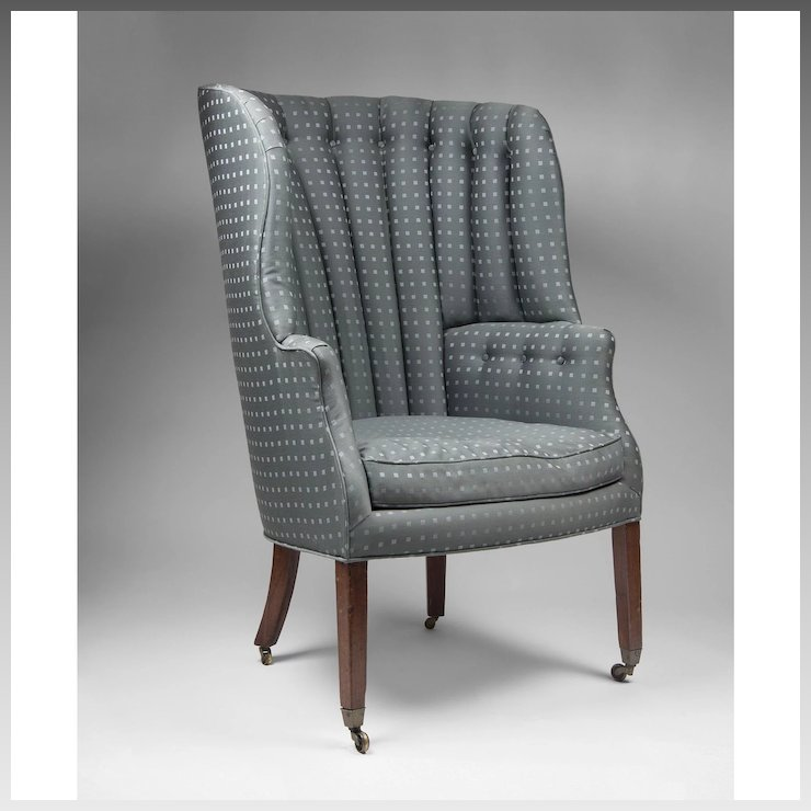 barrel back chair hauser rental covers 19th c english georgian library wing pia s antique gallery ruby lane