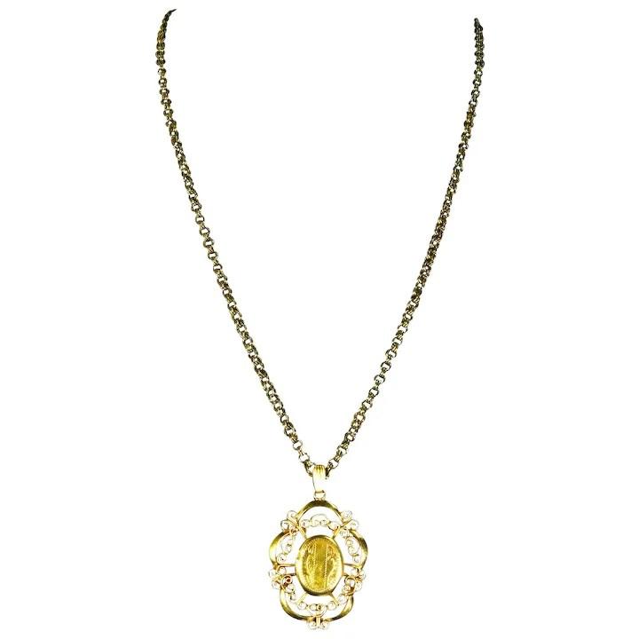 engraved locket necklace 12