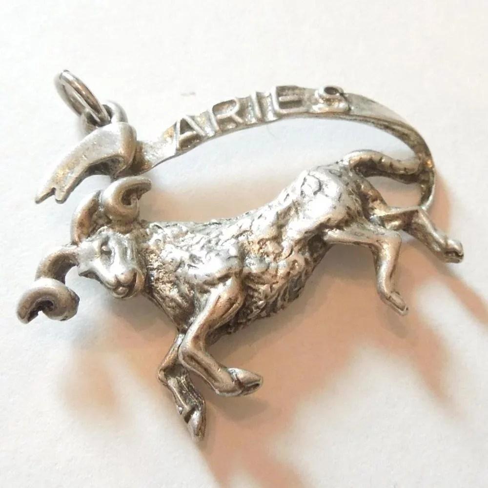 vintage sterling silver aries