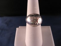 Vintage Sterling Silver Engraved And Domed Ring