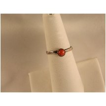 Vintage Sterling Silver Coral Ring Lining