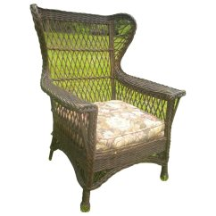 Large Wicker Chair Folding Dining Table And Chairs Set In India Vintage Natural Bar Harbor Gentleman 39s Wing
