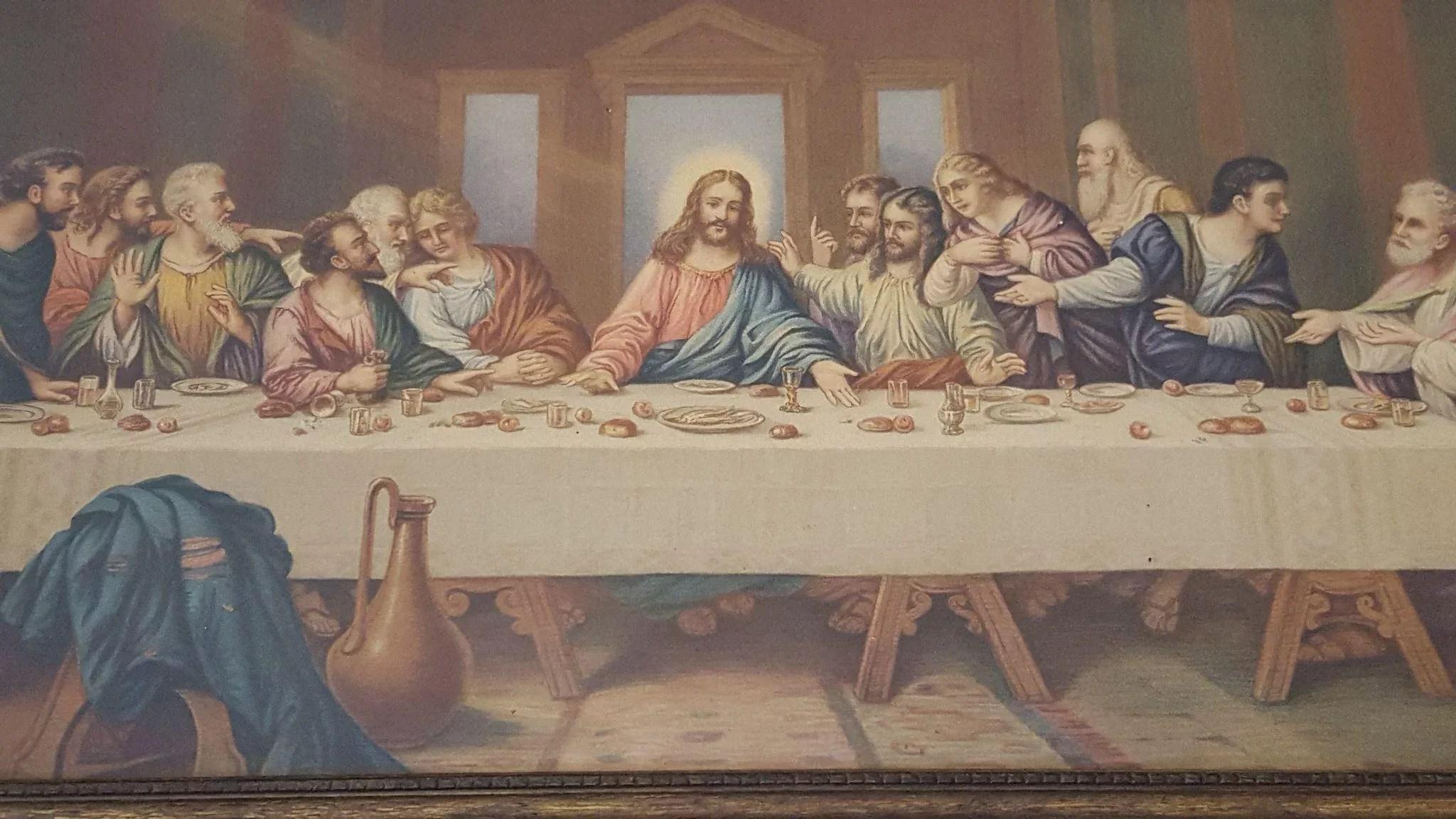 Vintage The Last Supper Print By Leonardo Da Vinci Circa