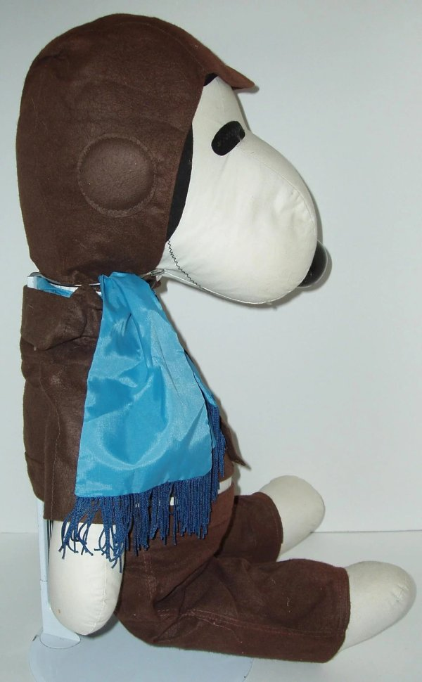 "1968 26"" Stuffed Snoopy Doll In Pilot Uniform"