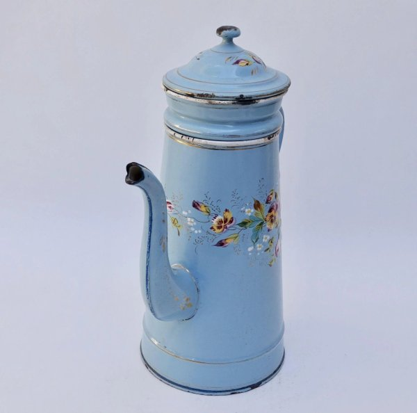Antique French Enamelware Coffee Pot, Biggin : The ...