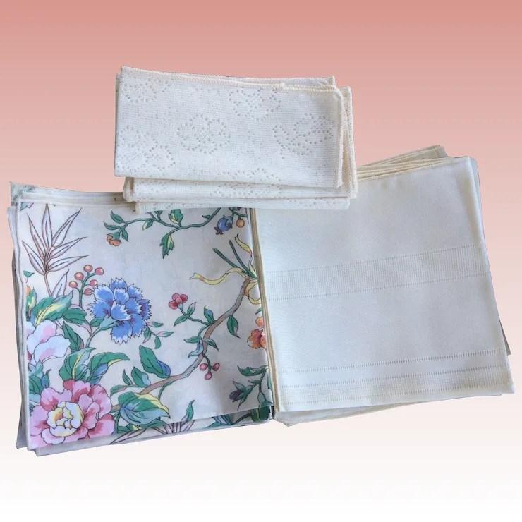 kitchen napkins glass tile backsplash group of vintage 15 total preowned shipped free