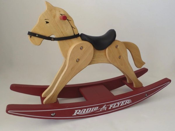 Vintage Wooden Rocking Horse Radio Flyer 371 Ll Bean