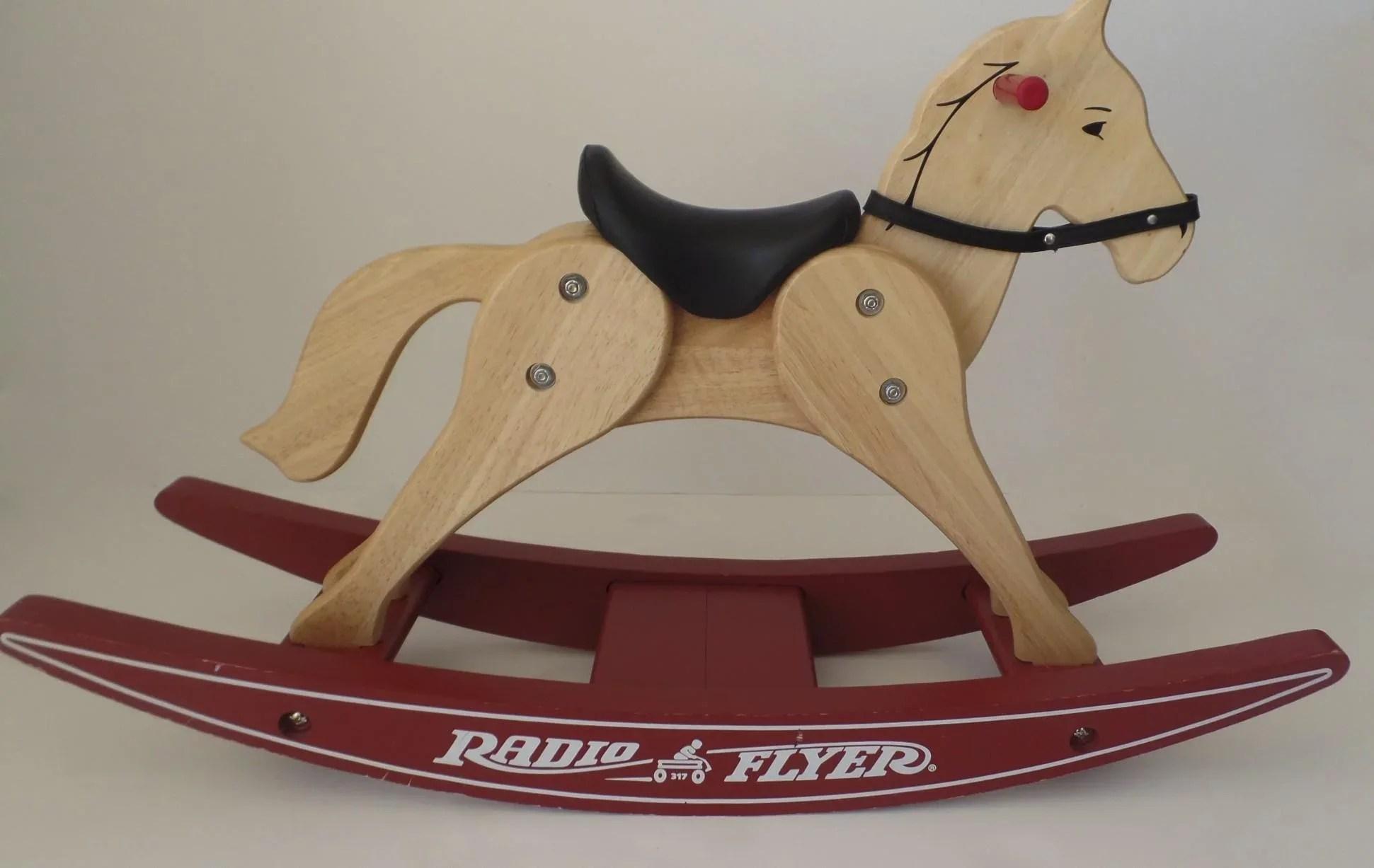 Vintage Wooden Rocking Horse Radio Flyer 371 LL Bean