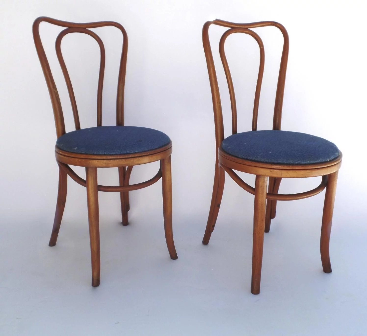 vintage bentwood chairs ikea living room chair pair impressed mark c 1900 s black tulip click to expand