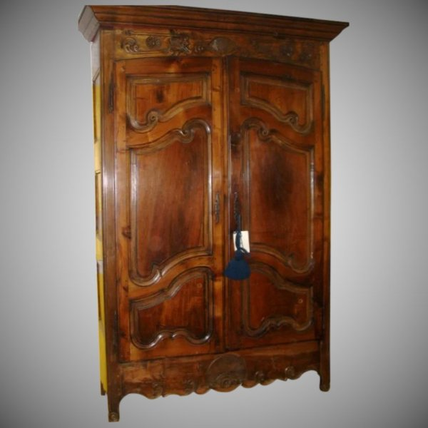 French Armoire Louis Xv Walnut Black Tulip Antiques