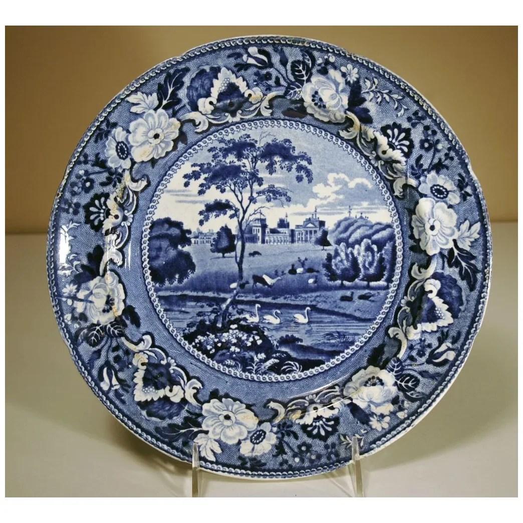 19th century staffordshire plate