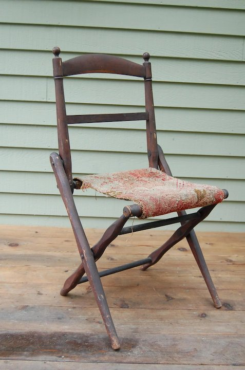 wood camp chair nilkamal chairs price list antique folding wooden civil war era starr hill