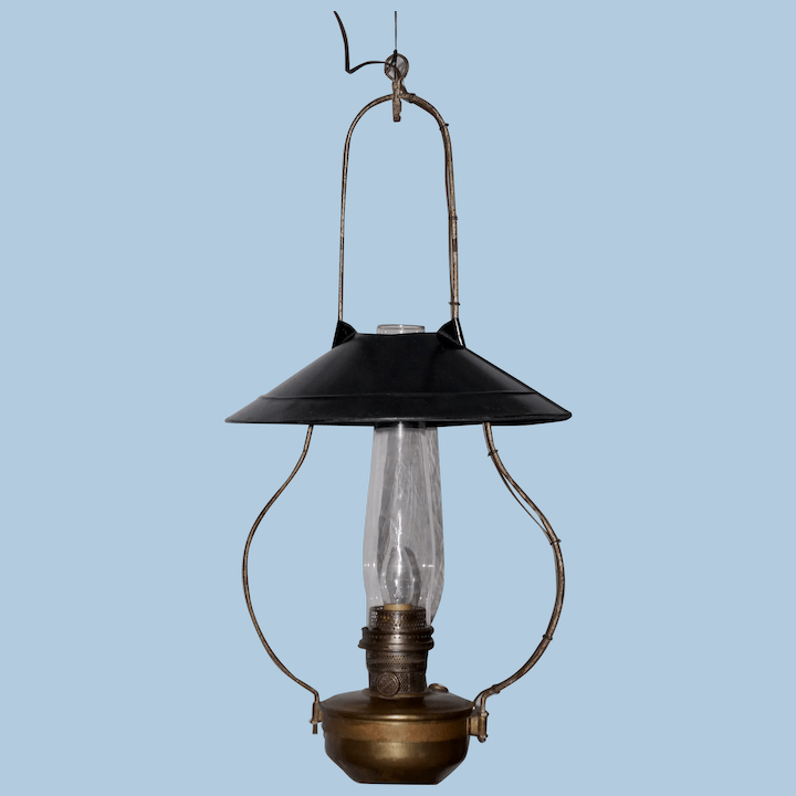 alladin hanging country store lamp