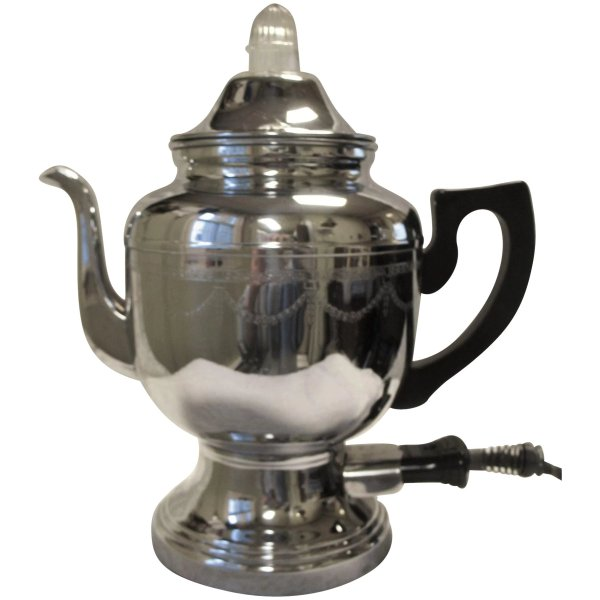 Vintage Farberware Electric Coffee Percolator Pot Art Deco