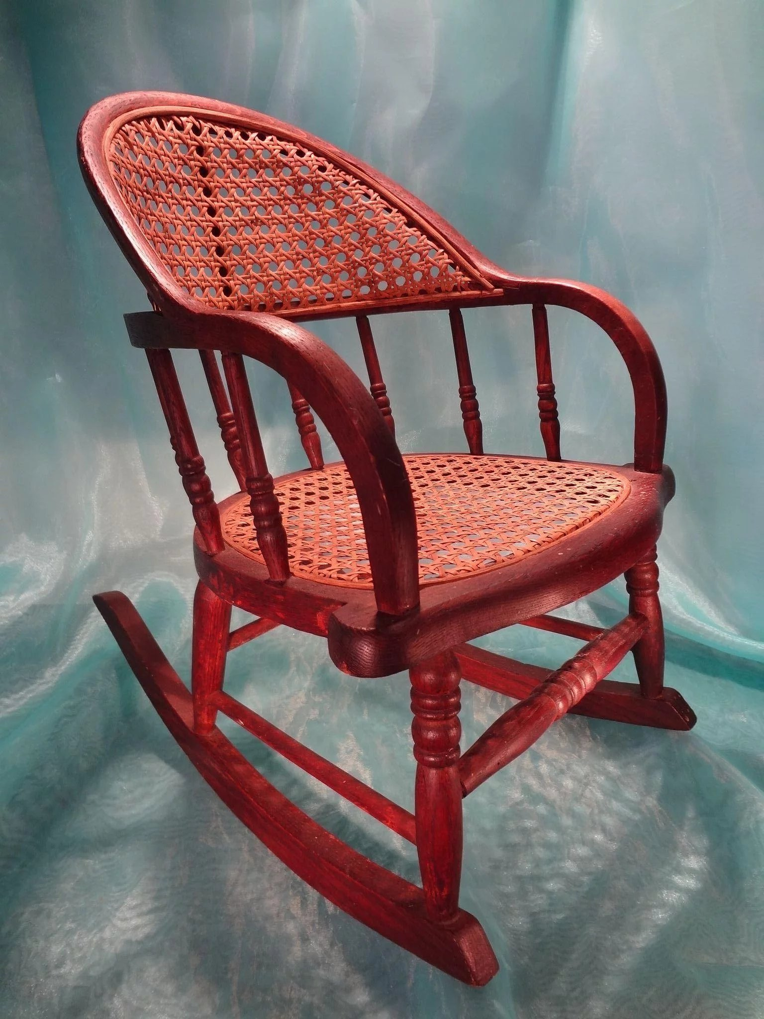 rocking chair cane high back beach antique seat and jackie everett