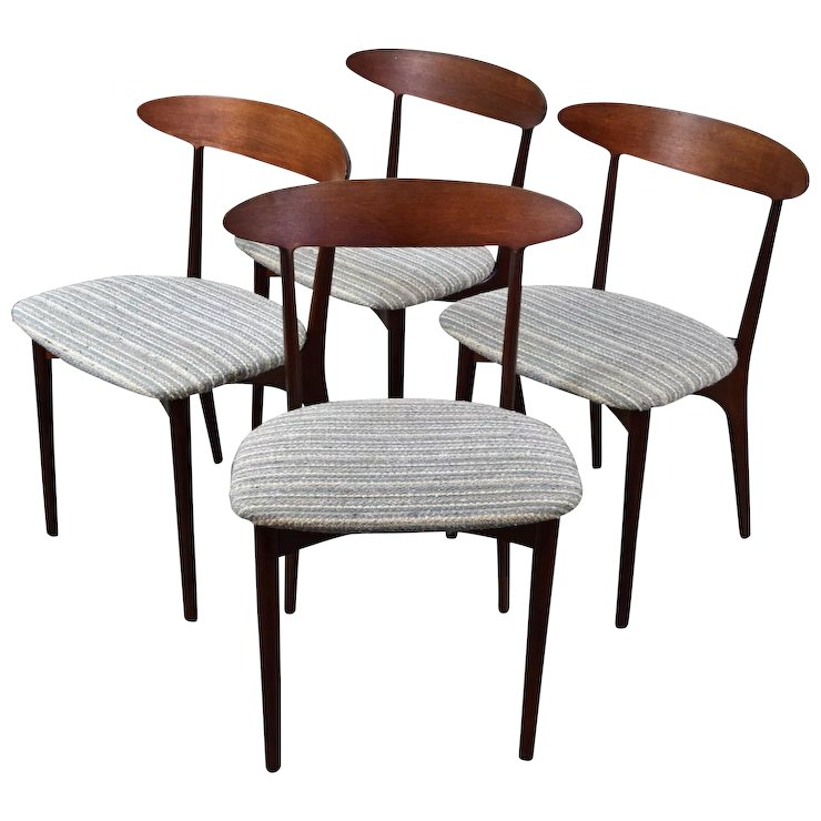 danish modern dining chair oversized patio chairs set 4 vintage mid century by kurt ostervig colin reed art antiques ruby lane