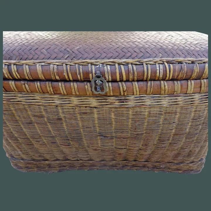 antique chinese basket storage