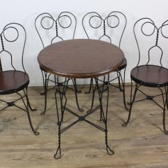 Ice Cream Parlor Table And Chairs Desk Chair Nz Four C 1910 Sold Ruby